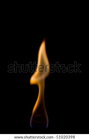 Beautiful separate flame