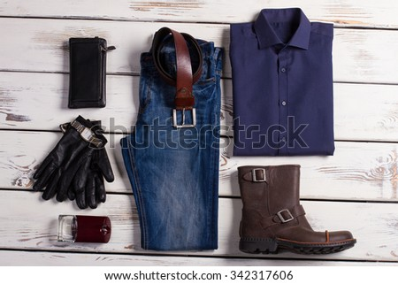 Beautiful set of business clothes successful man. - stock photo