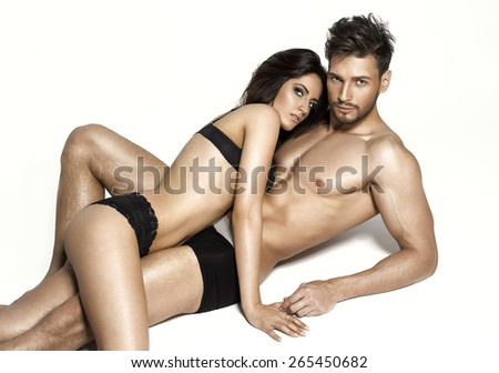 Beautiful sexy couple  - stock photo