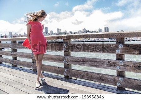 Beautiful sexy girl - stock photo