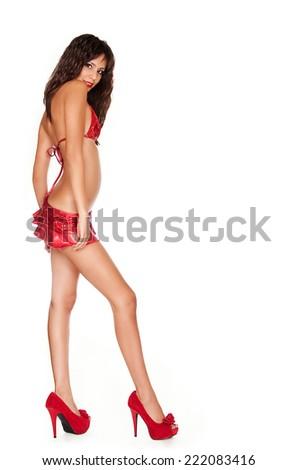 Beautiful sexy young woman  - stock photo
