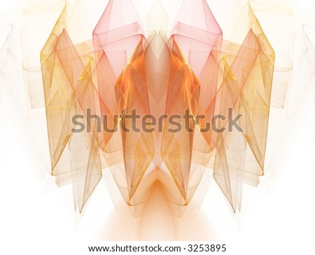 Beautiful sheer, flowing peach (fractal abstract background) - stock ...