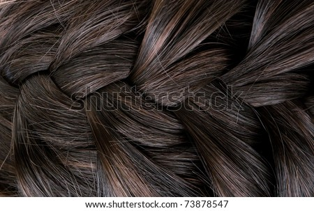 beautiful shiny healthy style hair - stock photo