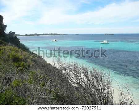 Beautiful Shoreline on Rottnest Island, Australia - stock photo