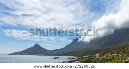 Beautiful shot of Camps Bay (Cape Town) in South Africa - stock photo