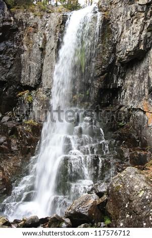 Beautiful sight - falling water falls. - stock photo