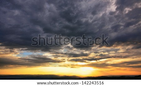 Beautiful sky 4 - stock photo