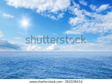 Beautiful sky and blue ocean