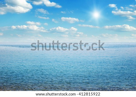 Beautiful sky and blue sea