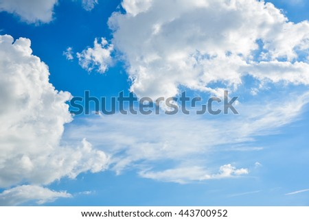 Beautiful sky and white clouds.