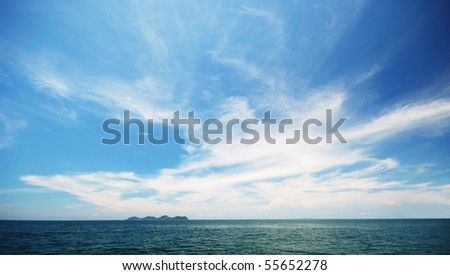 Beautiful sky at Andaman sea - stock photo