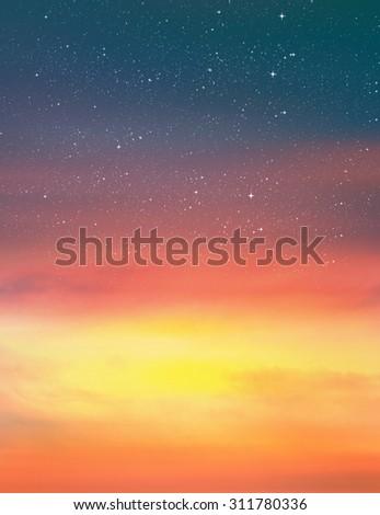 Beautiful sky background - stock photo