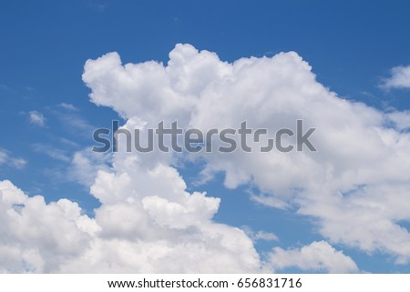 beautiful sky with clouds.