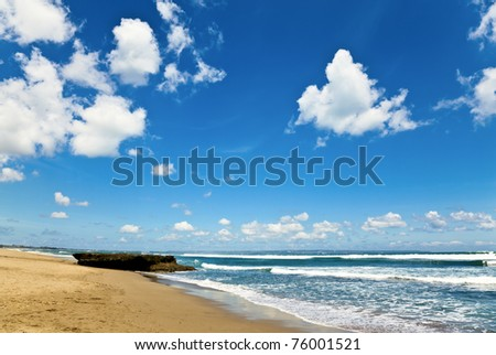 Beautiful sky with clouds near the ocean - stock photo