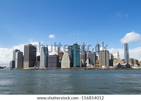 beautiful skyscrapers, abstract urban background