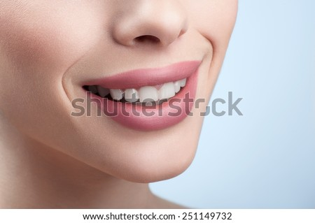 beautiful smile woman close up  - stock photo