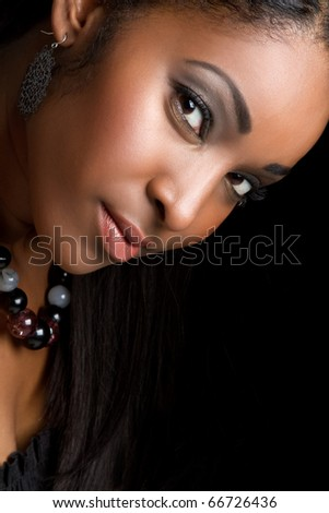 Beautiful smiling african american woman - stock photo