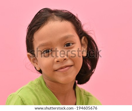 Beautiful smiling asian girl. - stock photo