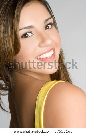 Beautiful Smiling Hispanic Girl - stock photo