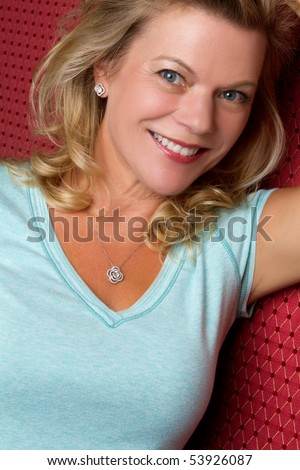 Beautiful smiling older woman - stock photo