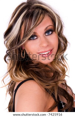 Beautiful smiling woman. - stock photo