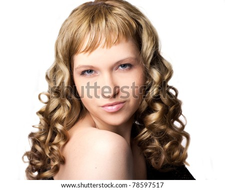 Beautiful smiling woman isolated on the white background