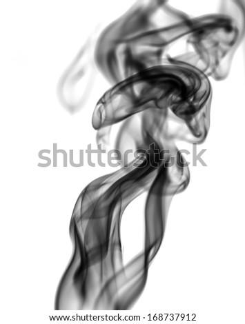 beautiful smoke on white background - stock photo