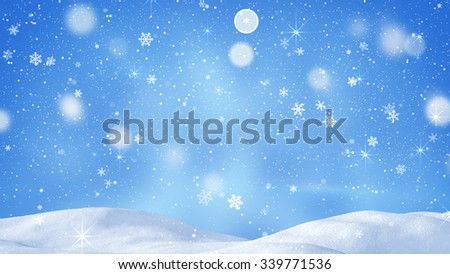 beautiful snowdrift and magic snowfall. Computer generated abstract background