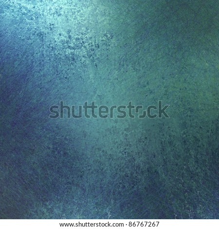 beautiful solid blue background paper with soft faded vintage grunge texture and highlight, has copy space for ad or sign - stock photo