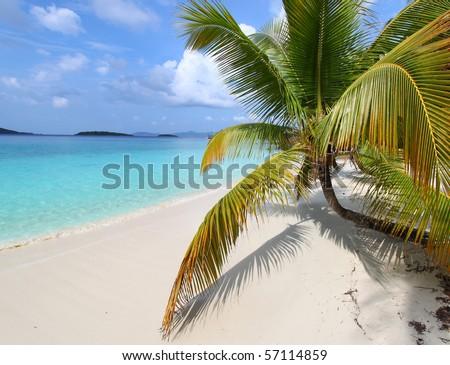 Beautiful Solomon Bay - US Virgin Islands - stock photo