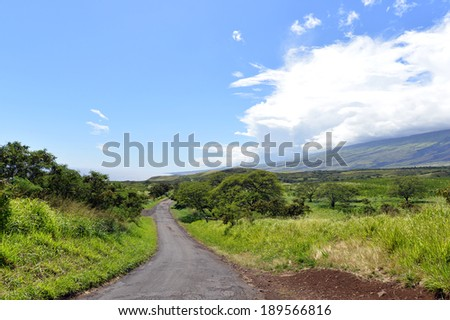 Beautiful south Haleakala National Park Maui Island Hawaii,Winding scenic road in southeast maui hawaii-9 - stock photo