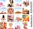 Beautiful spa collage made of many elements. Perfect as illustration. - stock photo