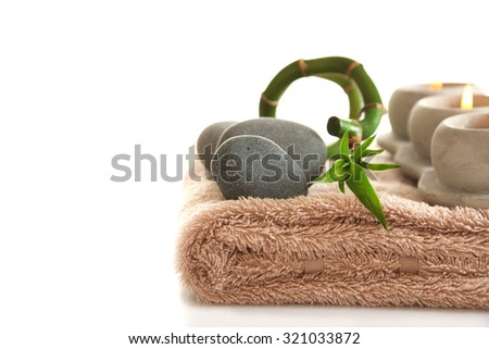 Beautiful spa composition, isolated on white - stock photo