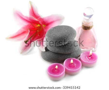 Beautiful spa composition isolated on white - stock photo