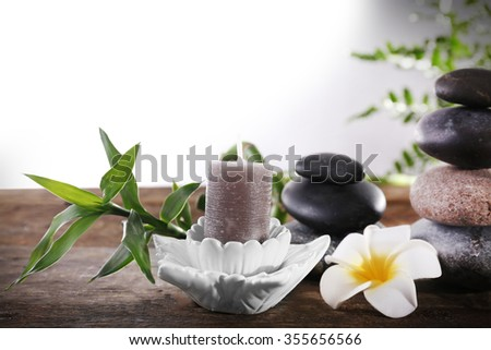 Beautiful spa concept on white background
