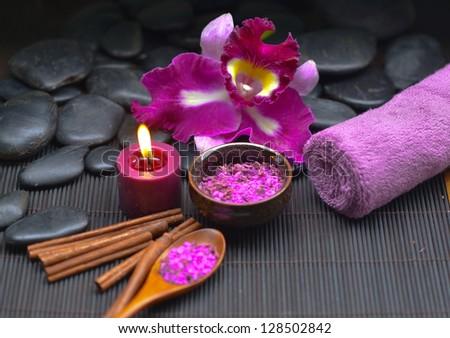 beautiful spa setting - stock photo