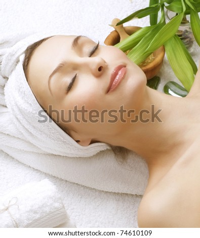 Beautiful Spa Woman.Clean skin.