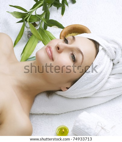 Beautiful Spa Woman. Clear Skin - stock photo