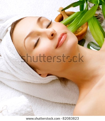 Beautiful Spa Woman. Clear Skin.Beauty Treatment - stock photo