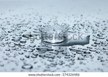 Beautiful splash of Water Drop. Freeze action. Water, drop, backgrounds, calm, water, drop, backgrounds, calm, water, drop, backgrounds, calm, water, drop, backgrounds, calm, water, drop, backgrounds - stock photo