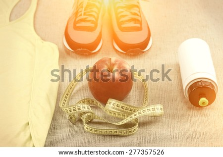Beautiful sport set for running. - stock photo