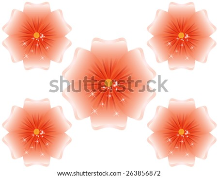 Beautiful Spring flower with sparkles - stock photo