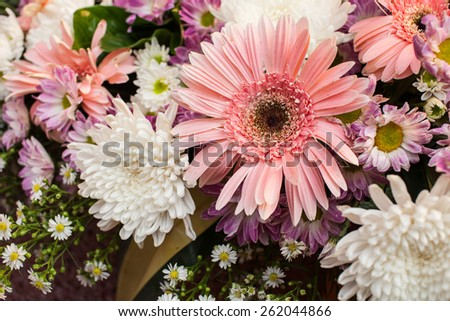 Beautiful spring wedding decoration - stock photo