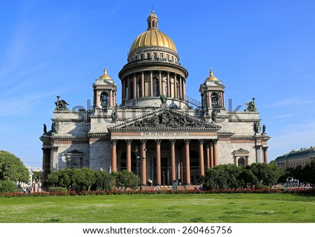 Beautiful St, Isaac Cathedral in St. Petersburg, Russia  - stock photo