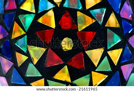 beautiful stained glass for use as background - stock photo