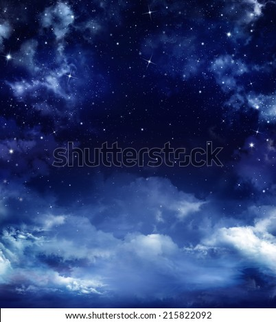 beautiful starry sky, space background - stock photo
