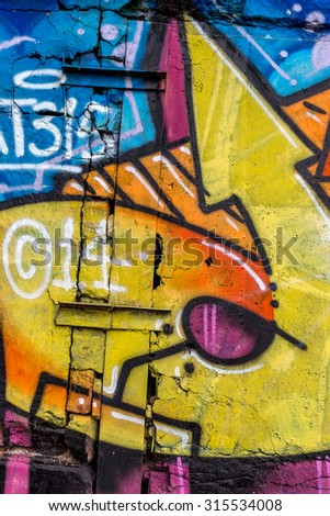 Beautiful Street Art Graffiti Abstract Creative Stock Photo (Royalty ...