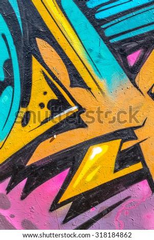 Beautiful Street Art Graffiti Abstract Creative Stock Photo (100 ...