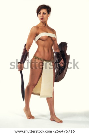 http://thumb9.shutterstock.com/display_pic_with_logo/2233535/256475716/stock-photo-beautiful-strong-woman-in-the-image-of-the-warrior-of-the-ancient-world-on-white-background-256475716.jpg