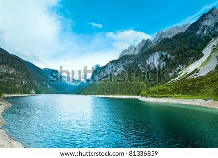 Beautiful summer Alpine  lake Gosausee view (Austria) - stock photo